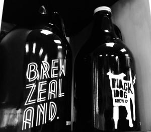 black dog brewery bottles